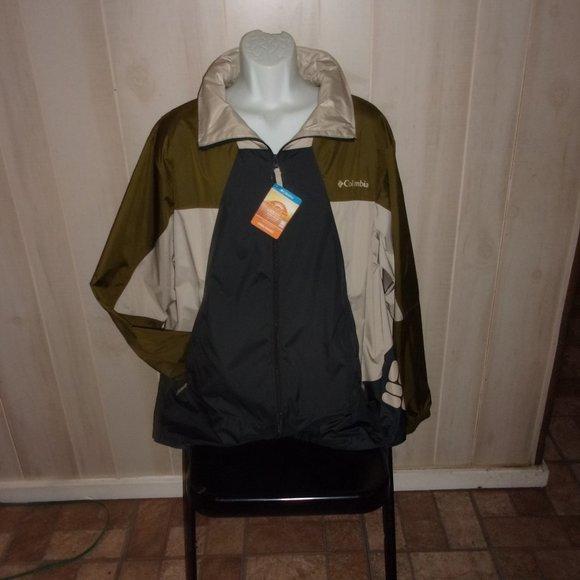 Columbia Point park hooded windbreaker Jacket XL
